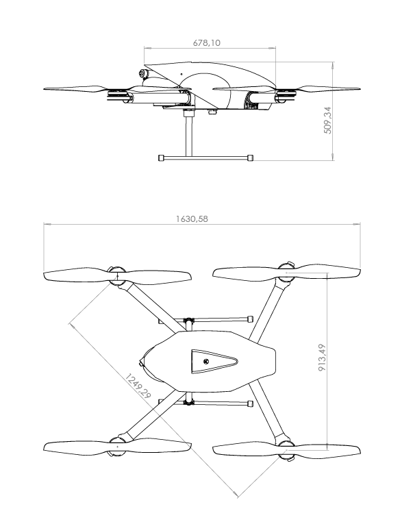 Hybrix measurements, the first hybrid drone